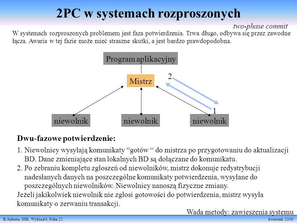 2PC w systemach rozproszonych