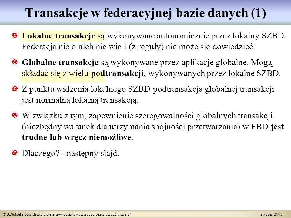 Transakcje w federacyjnej bazie danych (1)