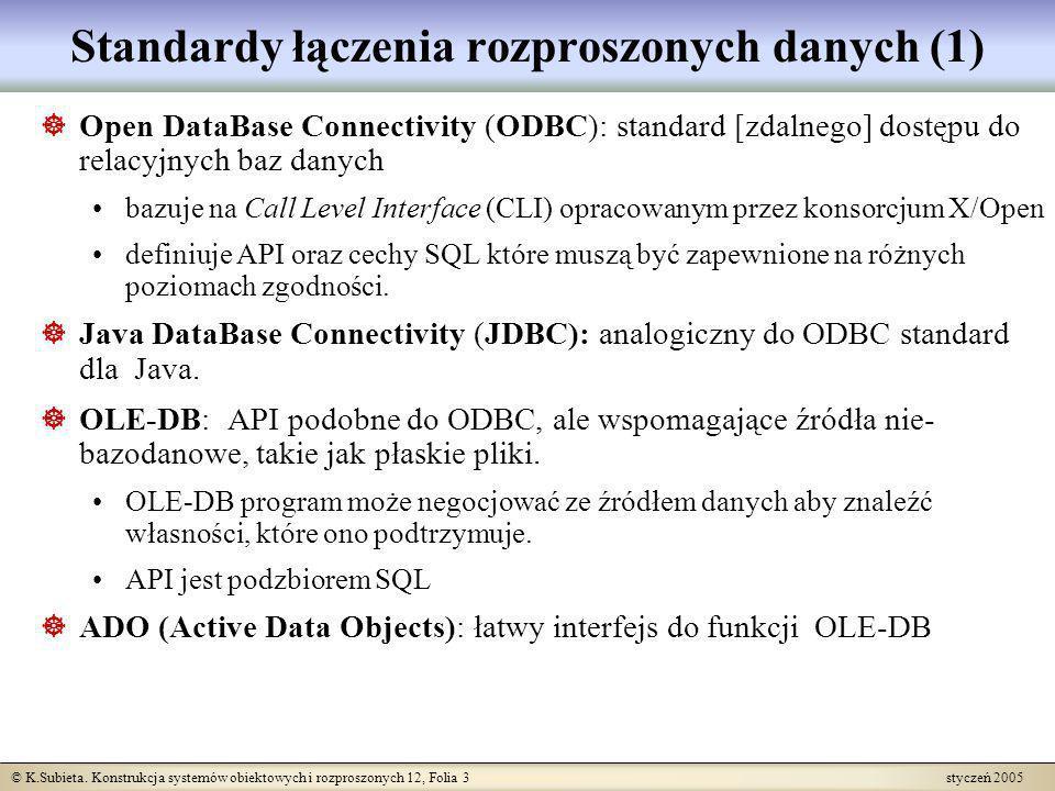 Standardy łączenia rozproszonych danych (1)