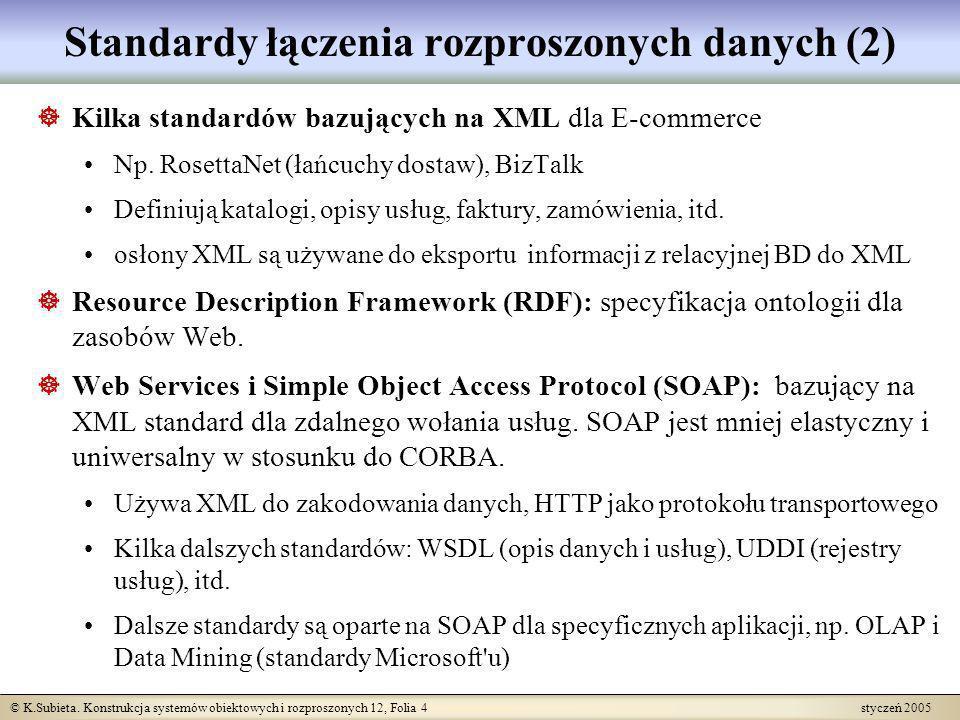 Standardy łączenia rozproszonych danych (2)