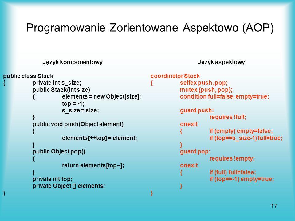 Programowanie Zorientowane Aspektowo (AOP)