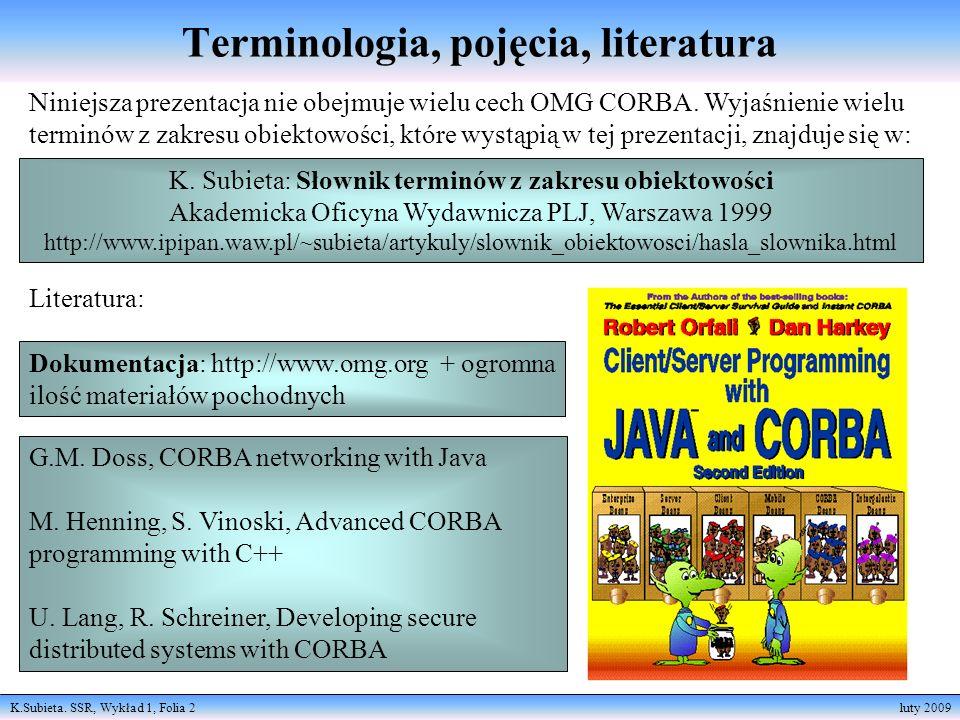 Terminologia, pojęcia, literatura