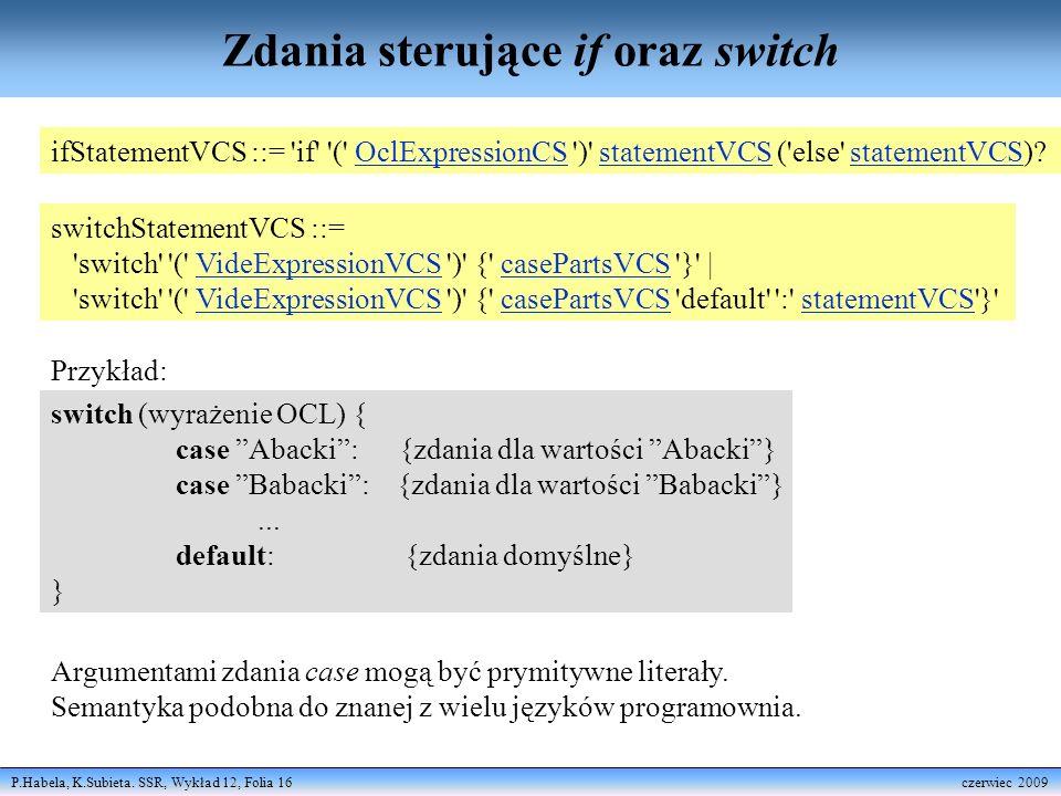 Zdania sterujące if oraz switch