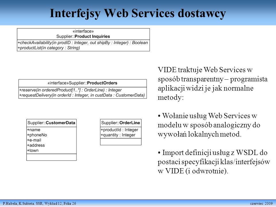 Interfejsy Web Services dostawcy