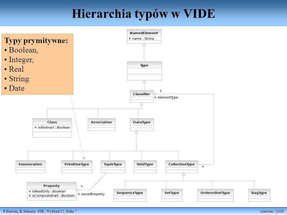 Hierarchia typów w VIDE
