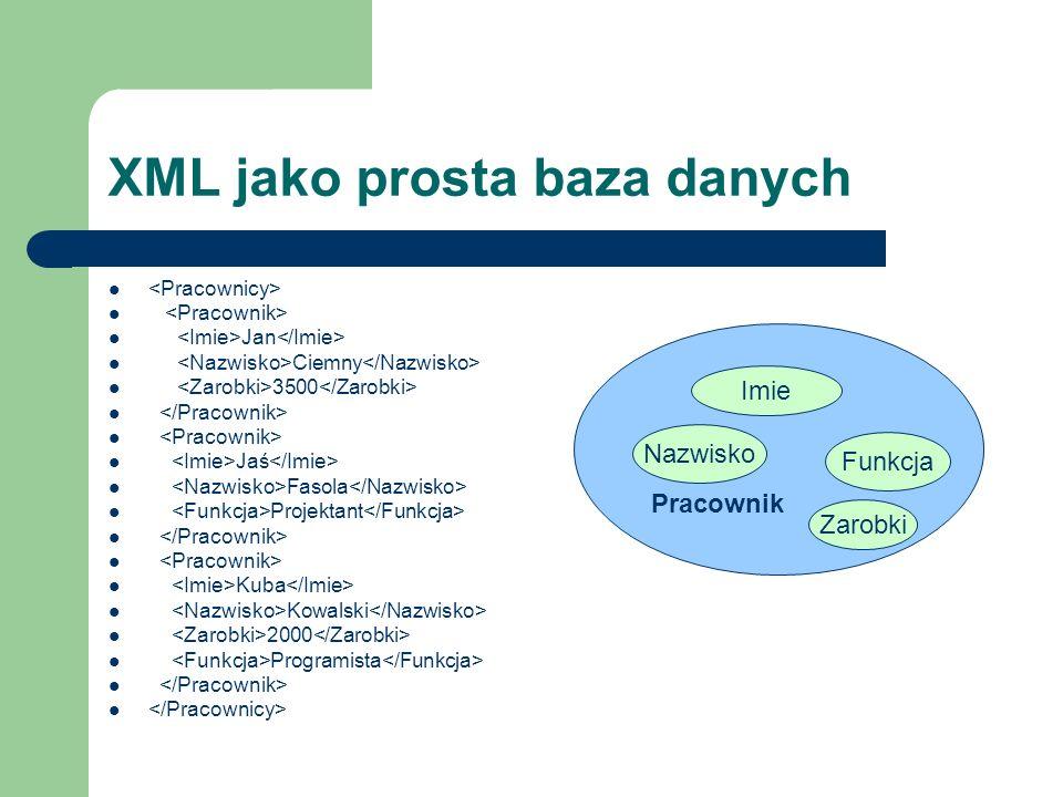 XML jako prosta baza danych