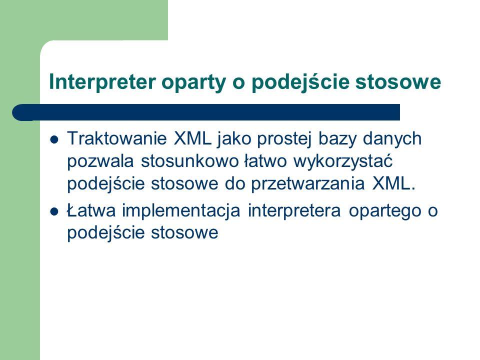 Interpreter oparty o podejście stosowe