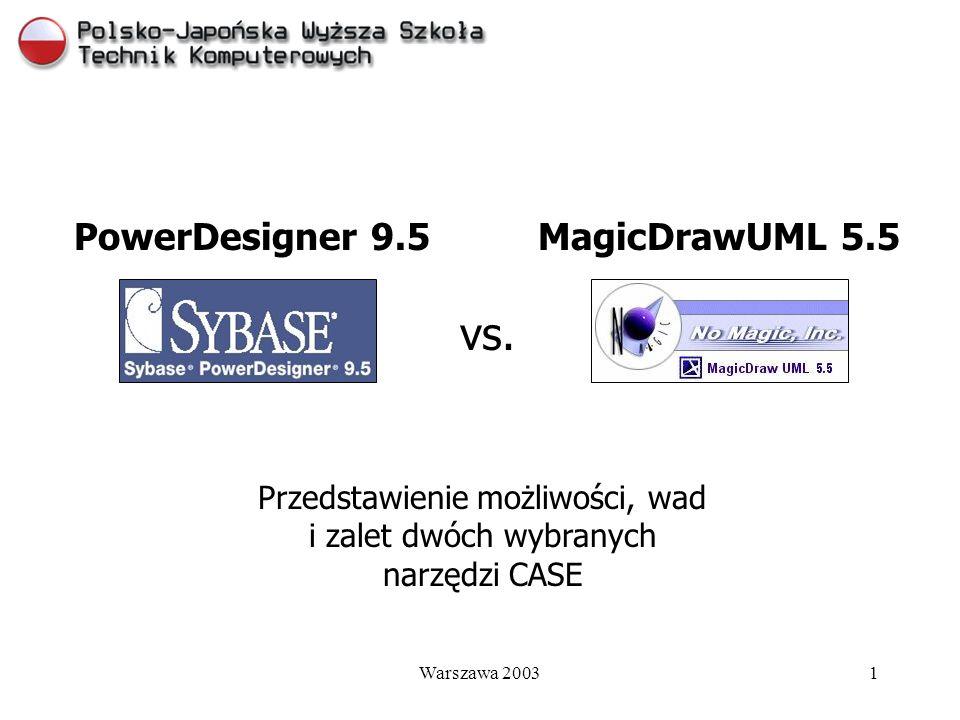 Przedstawienie możliwości, wad i zalet dwóch wybranych narzędzi CASE