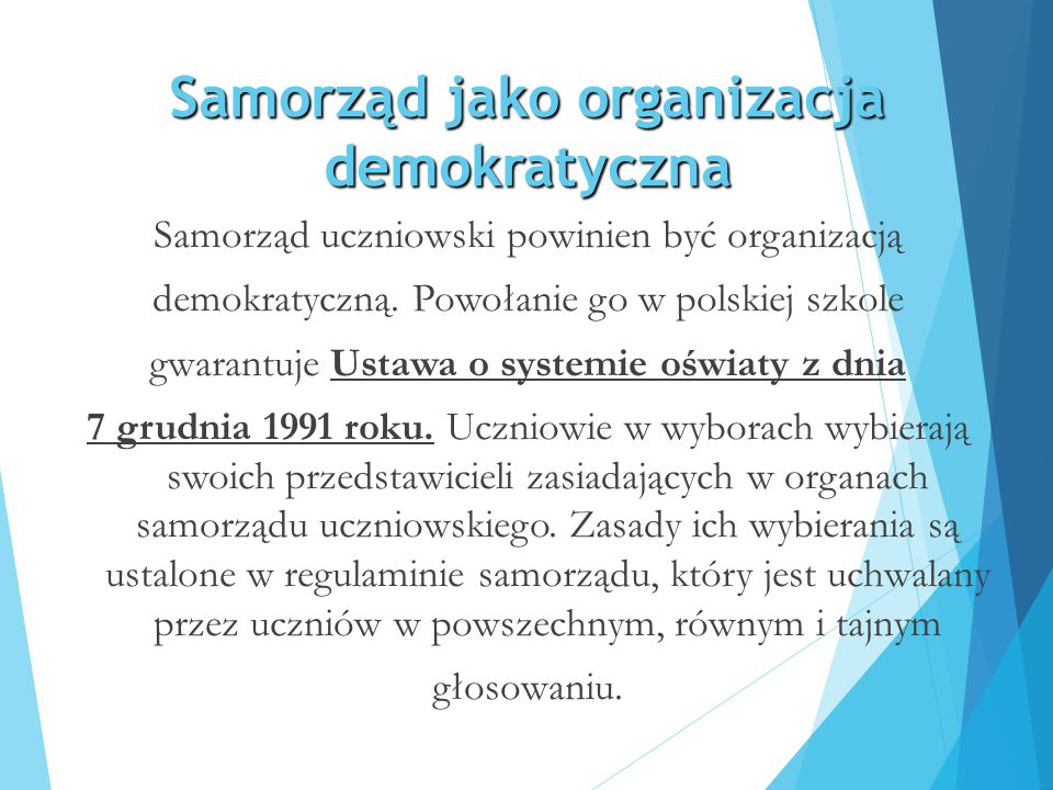 Samorząd jako organizacja demokratyczna