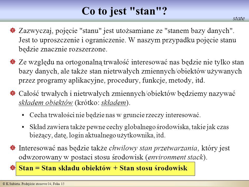 Co to jest stan state.