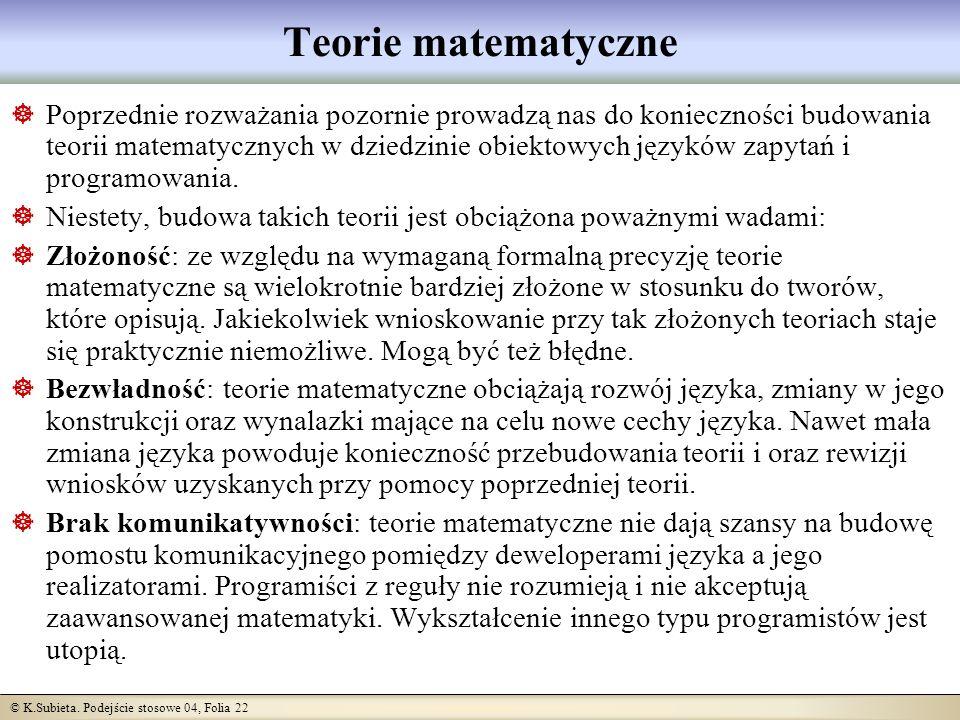 Teorie matematyczne