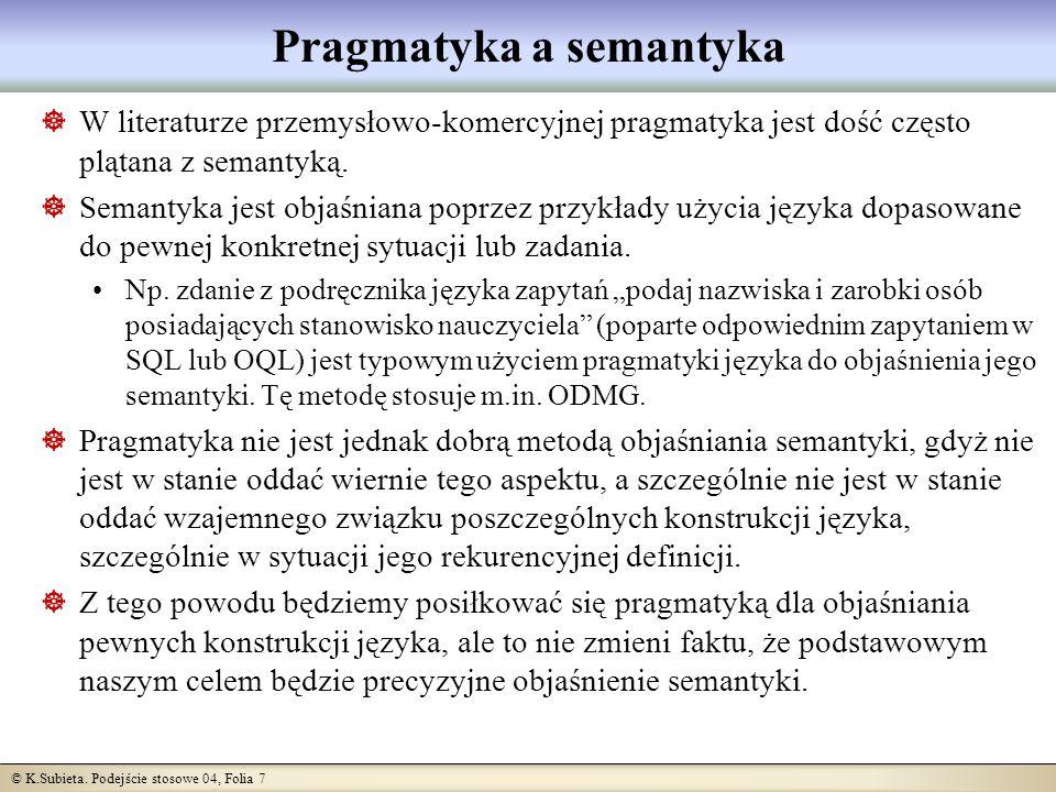 Pragmatyka a semantyka