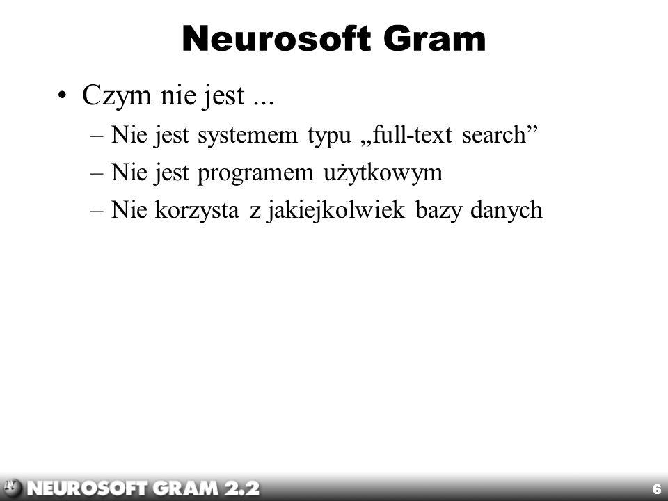 Neurosoft Gram Czym nie jest ...