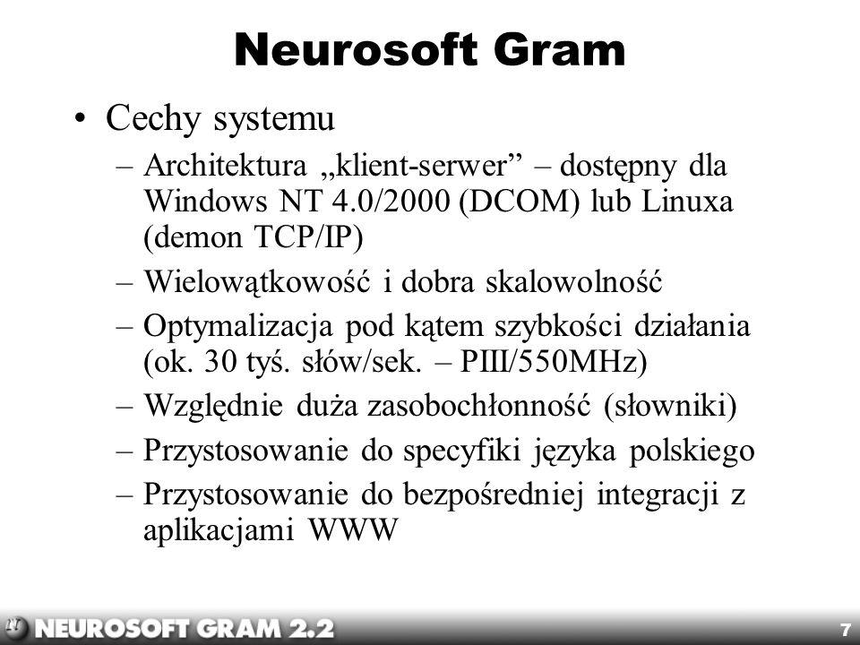 Neurosoft Gram Cechy systemu