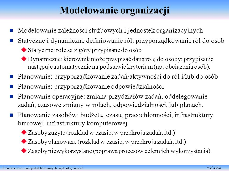 Modelowanie organizacji