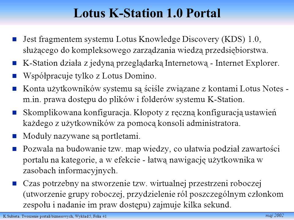 Lotus K-Station 1.0 Portal