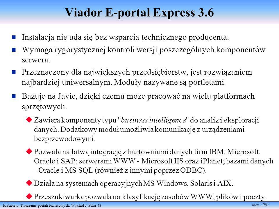 Viador E-portal Express 3.6