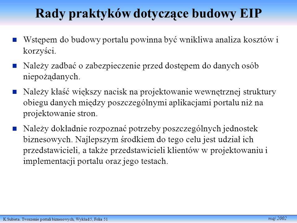 Rady praktyków dotyczące budowy EIP