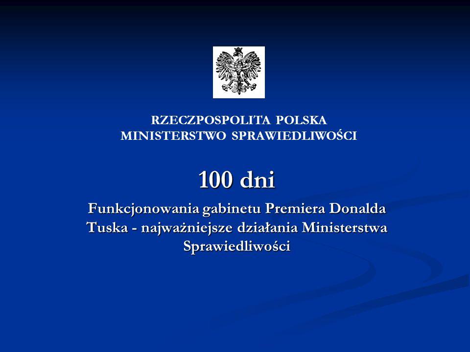 RZECZPOSPOLITA POLSKA MINISTERSTWO SPRAWIEDLIWOŚCI