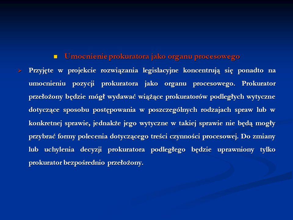 Umocnienie prokuratora jako organu procesowego