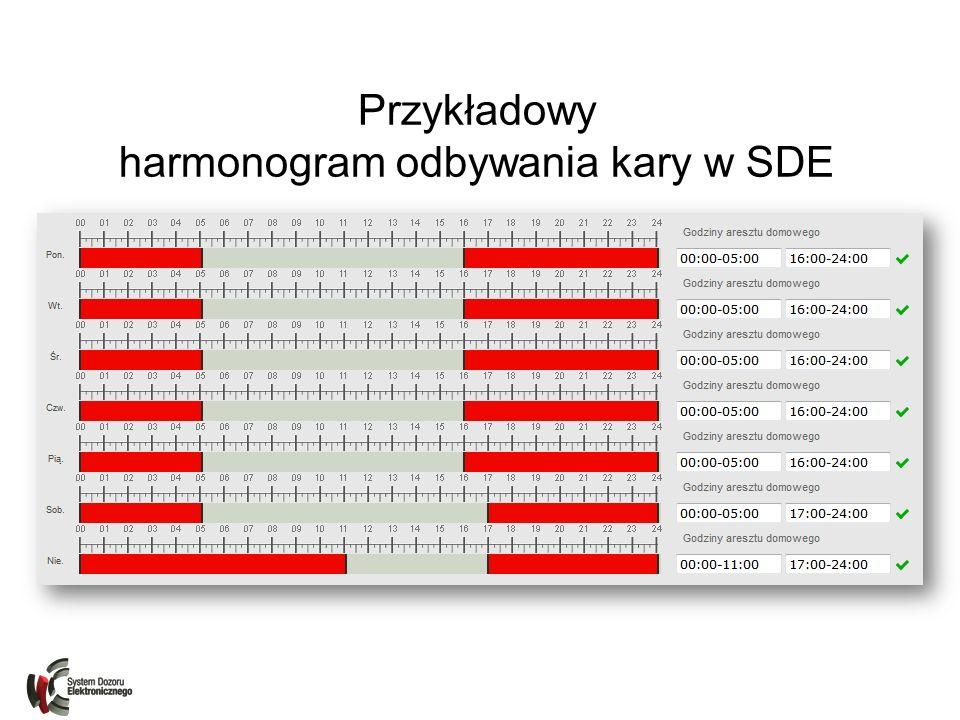 Przykładowy harmonogram odbywania kary w SDE