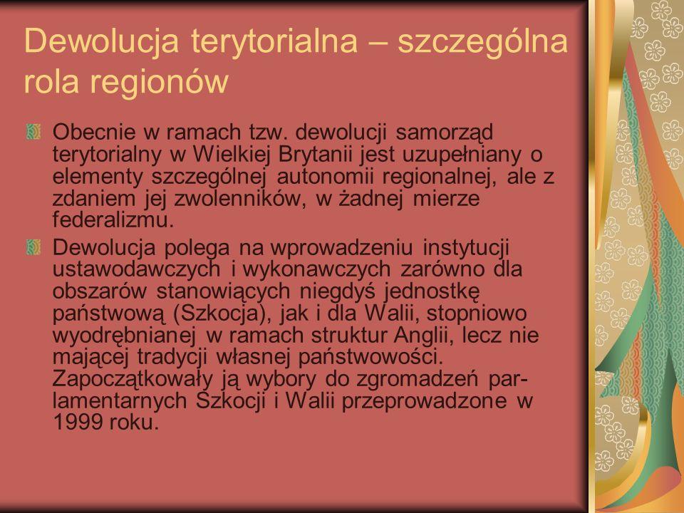 Dewolucja terytorialna – szczególna rola regionów