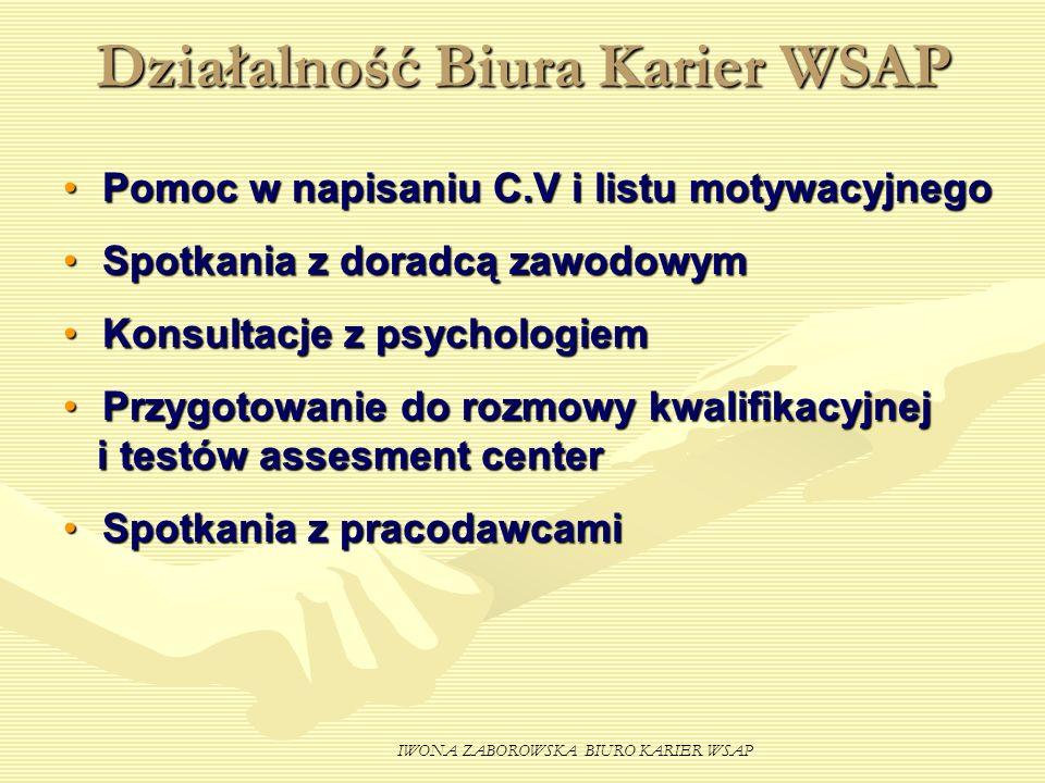 Działalność Biura Karier WSAP