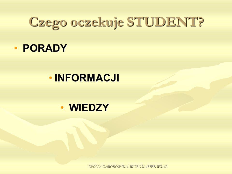 Czego oczekuje STUDENT