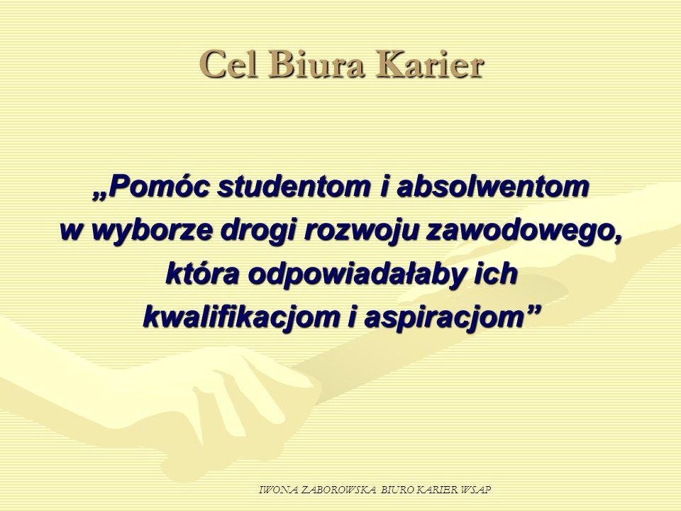 "Cel Biura Karier ""Pomóc studentom i absolwentom"