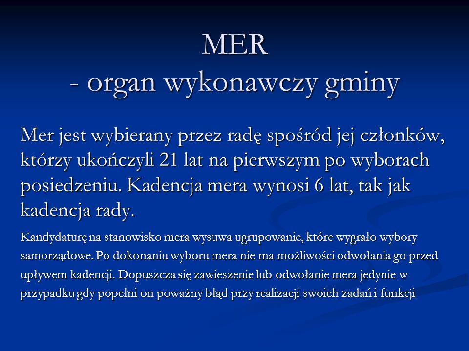 MER - organ wykonawczy gminy