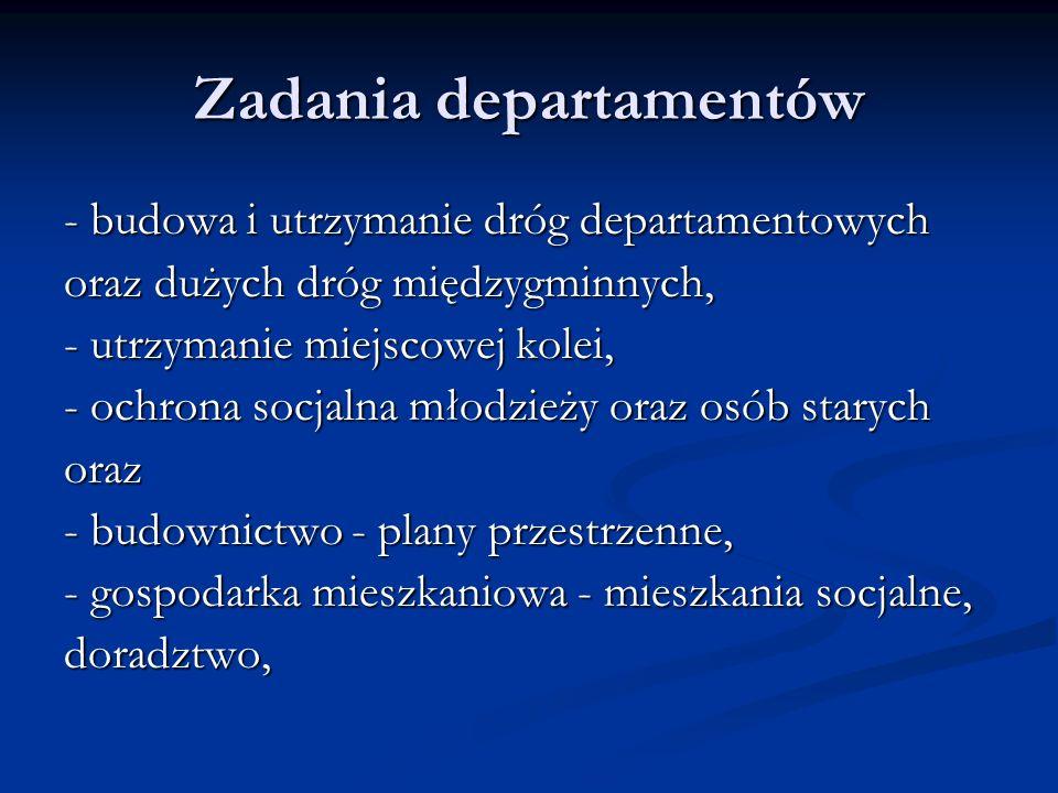 Zadania departamentów
