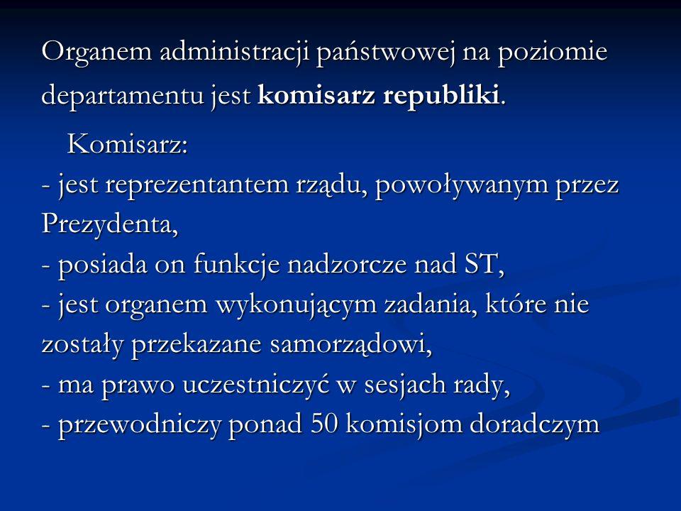 Organem administracji państwowej na poziomie