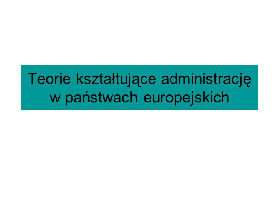 Teorie kształtujące administrację w państwach europejskich