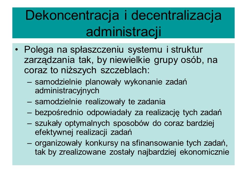 Dekoncentracja i decentralizacja administracji