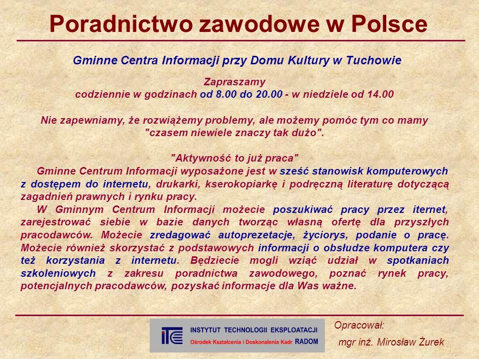 Gminne Centra Informacji przy Domu Kultury w Tuchowie