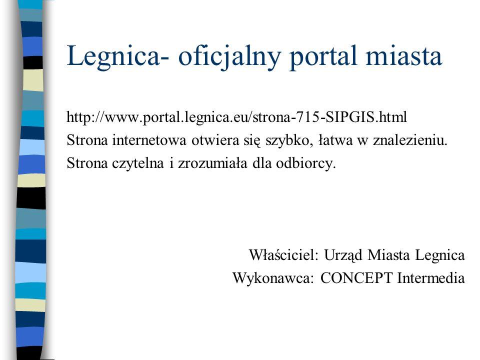 Legnica- oficjalny portal miasta