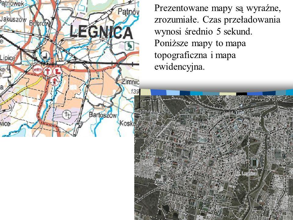 Prezentowane mapy są wyraźne, zrozumiałe