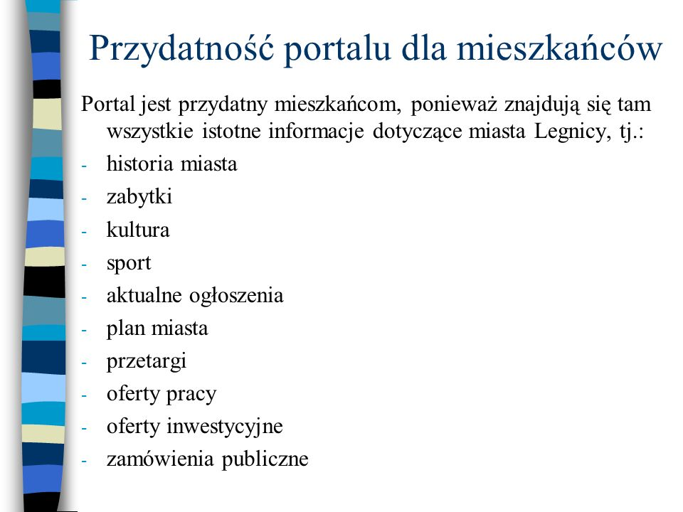 Przydatność portalu dla mieszkańców