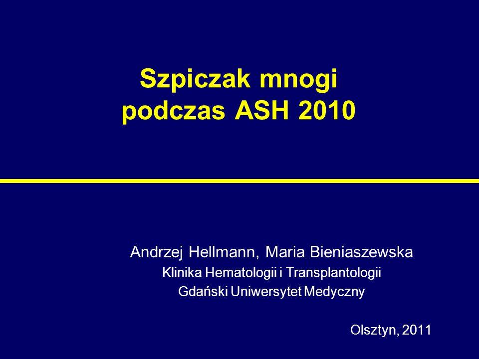 Szpiczak mnogi podczas ASH 2010