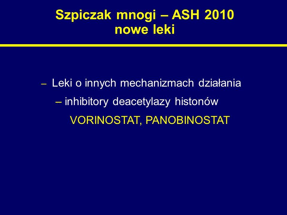 Szpiczak mnogi – ASH 2010 nowe leki