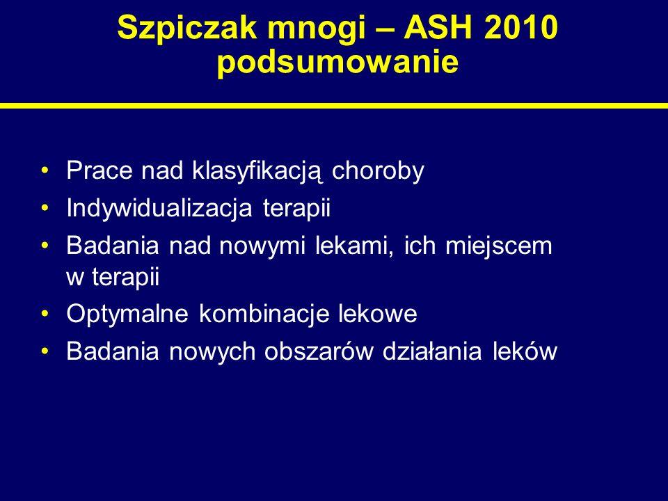Szpiczak mnogi – ASH 2010 podsumowanie
