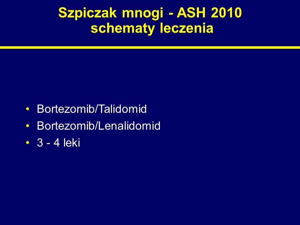 Szpiczak mnogi - ASH 2010 schematy leczenia