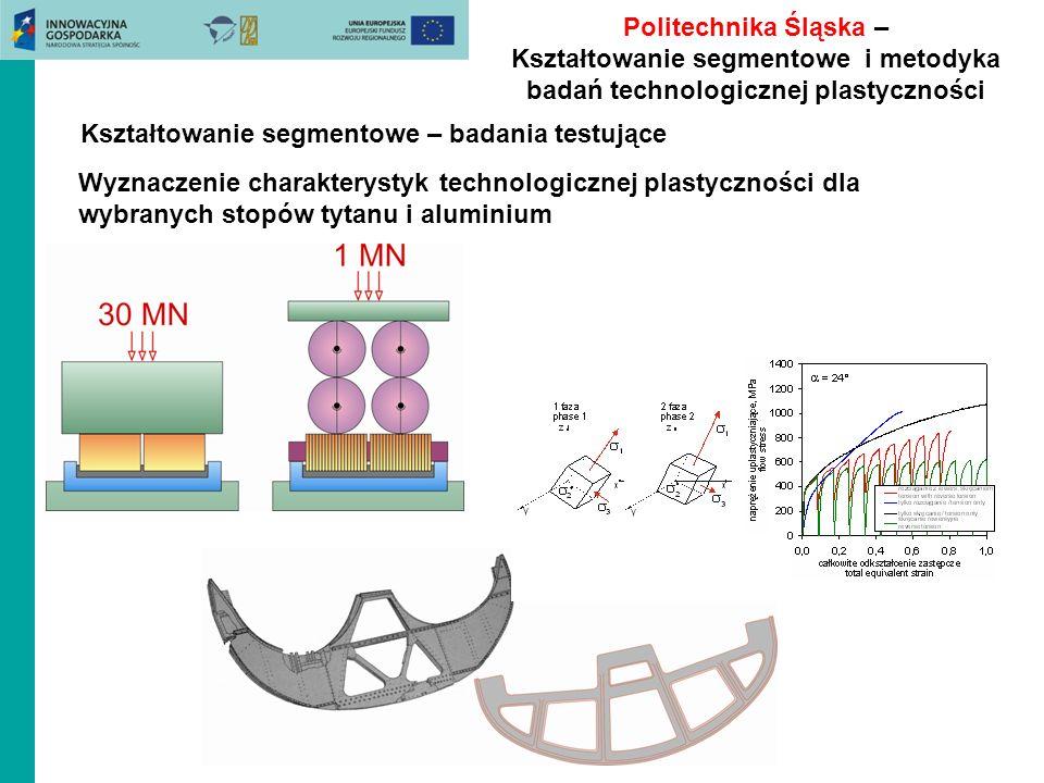 Politechnika Śląska – Kształtowanie segmentowe i metodyka badań technologicznej plastyczności