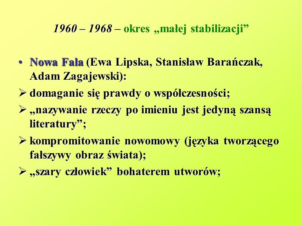 """1960 – 1968 – okres """"małej stabilizacji"""