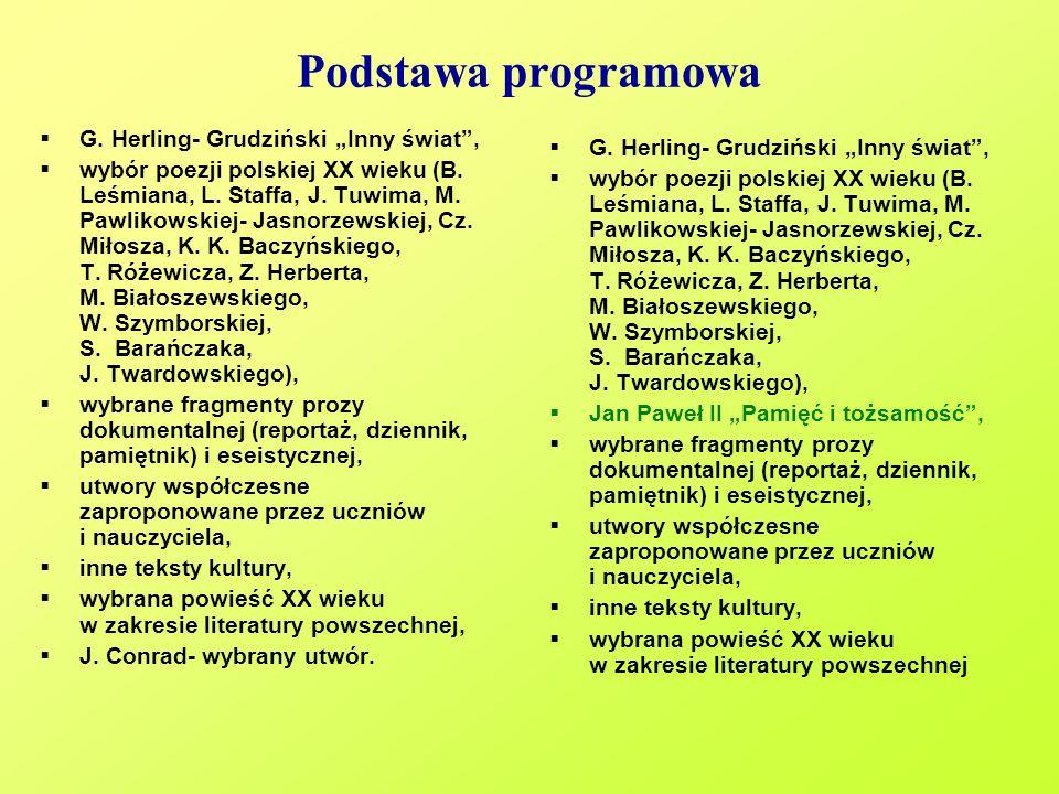 """Podstawa programowa G. Herling- Grudziński """"Inny świat ,"""