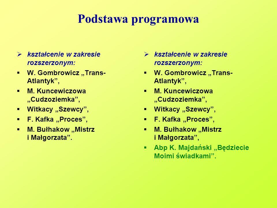 Podstawa programowa kształcenie w zakresie rozszerzonym: