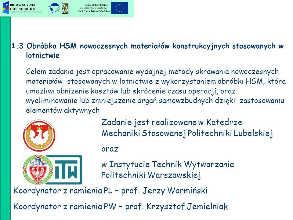 w Instytucie Technik Wytwarzania Politechniki Warszawskiej