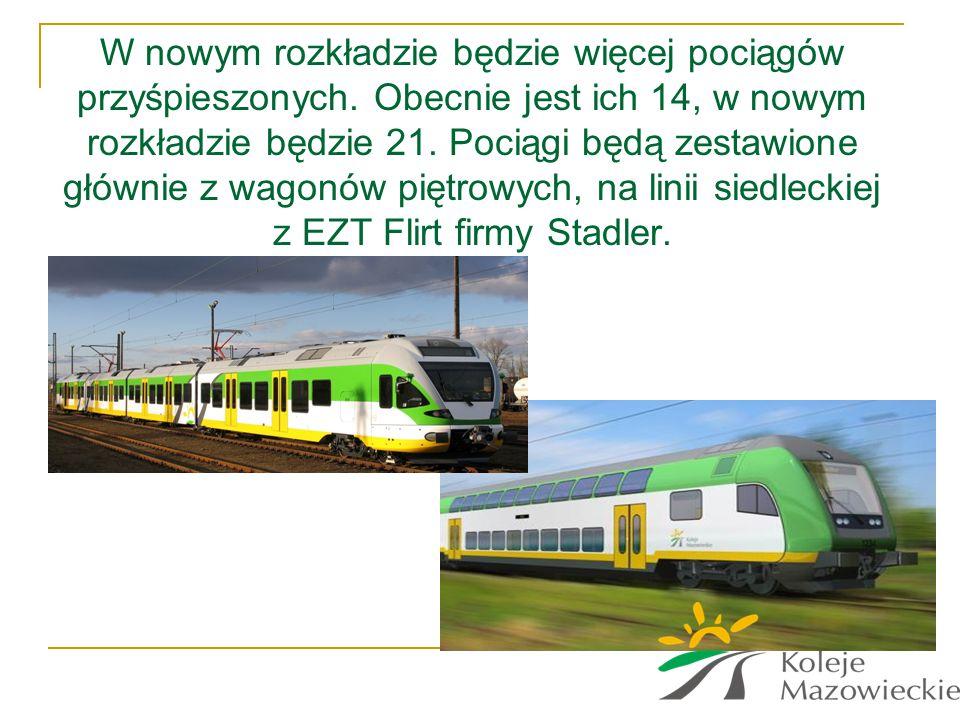 W nowym rozkładzie będzie więcej pociągów przyśpieszonych