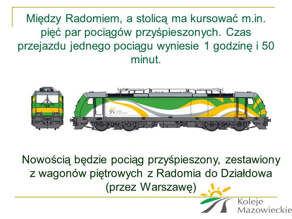 Między Radomiem, a stolicą ma kursować m. in