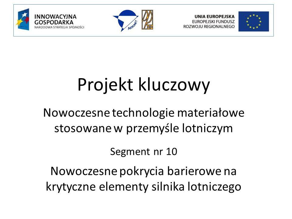 Projekt kluczowy Nowoczesne technologie materiałowe stosowane w przemyśle lotniczym. Segment nr 10.